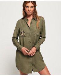 Superdry - Cora Military Shirt Dress - Lyst