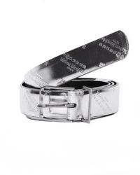 Maison Margiela - Silver Logo Belt - Lyst