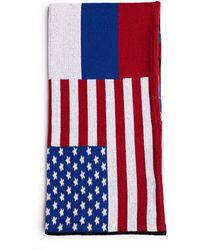 Gosha Rubchinskiy - 'flags' Cotton Mix Scarf - Lyst