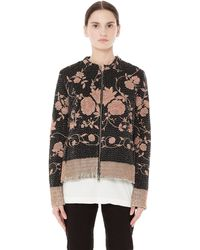 By Walid - Rose Embroidered Bomber Jacket - Lyst