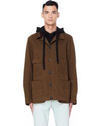 Ziggy Chen - Back Printed Cotton Jacket - Lyst