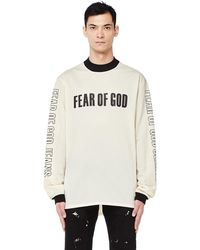Fear Of God - Black And White Long Sleeve Mesh T-shirt - Lyst