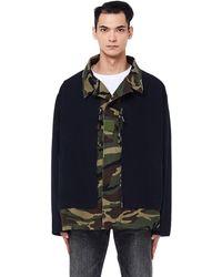 Balenciaga - Black & Camo Cotton Jacket - Lyst