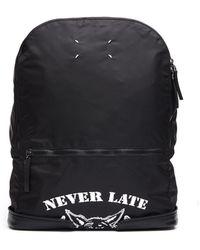 Maison Margiela - 'never Late' Printed Nylon Backpack - Lyst