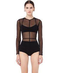 Ann Demeulemeester - La Fille D'o Edition Tulle Bodysuit - Lyst
