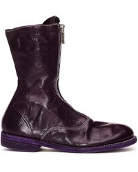 Guidi - '310' Zipped Leather Boot - Lyst