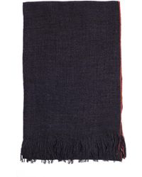 Yohji Yamamoto - Red Stitching Grey Wool Scarf - Lyst