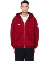 Vetements - Inside-out Red Cotton Mix Hoodie - Lyst