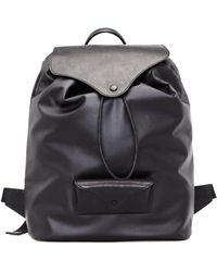Maison Margiela | Leather And Textile Backpack | Lyst