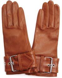 Balenciaga - Leather Goves - Lyst