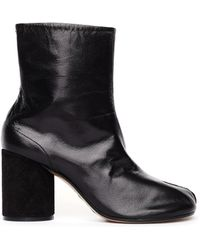 Maison Margiela - Suede Heel Tabi Ankle Boots - Lyst