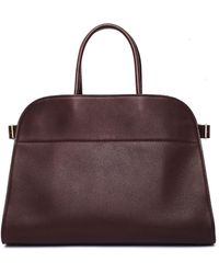 The Row - Margaux 15 Saddle Leather Bag - Lyst