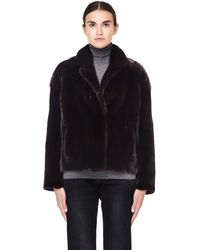 32 Paradis Sprung Freres - Short Mink Fur Brown Coat - Lyst