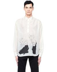Enfants Riches Deprimes - 'baron' Cotton And Silk Shirt - Lyst