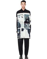 Yohji Yamamoto - Side Button Printed Long Shirt - Lyst