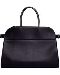 The Row - 'margaux 15' Black Leather Bag - Lyst