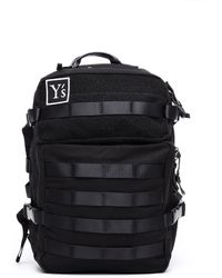 Y's Yohji Yamamoto - Textile And Leather Trimmed Backpack - Lyst