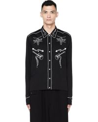 The Soloist - Logo Embroidered Shirt - Lyst