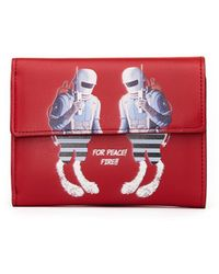 Undercover - Printed Red Leather Wallet - Lyst