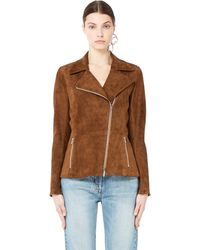 The Row - Suede Jacket Paylee - Lyst