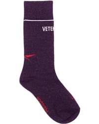 Vetements - Lurex Logo Socks - Lyst