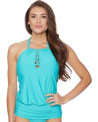 Athena - Cabana Solids Cailyn High Neck Tankini Top - Lyst