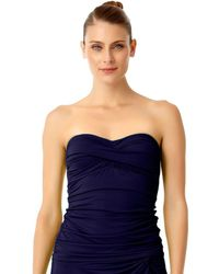 Anne Cole - Live In Color Twist Front Bandeaukini Swim Top - Lyst