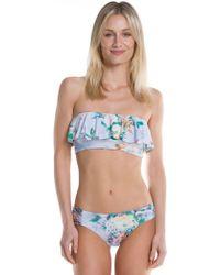 Becca - Femme Flora Ruffled Flounce Swim Top - Lyst