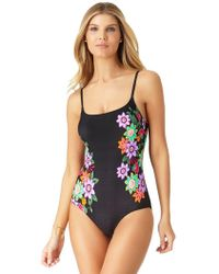 Anne Cole - Engineered Floral Lingerie Maillot One Piece Swimsuit - Lyst