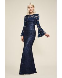 Tadashi Shoji - Somerset Embroidered Bell Sleeve Gown - Lyst