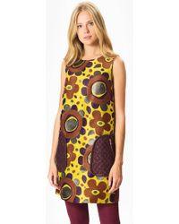 Roman - Floral Yellow Dress - Lyst