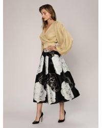 Roman - Floral Gold Detailed Skirt - Lyst