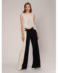 Roman - Beige Fabric Detailed Black Pants - Lyst