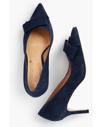 c58142908d6 Lyst - Talbots Erica Tasseled Kitten-heel Pumps-kid-suede in Blue