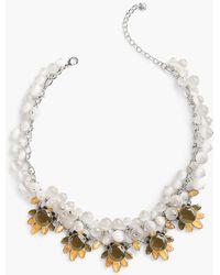 Talbots - Mixed-bead & Crystal Drop Necklace - Lyst