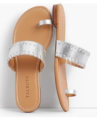 Talbots - Gia Toe-ring Sandals-metallic Leather - Lyst