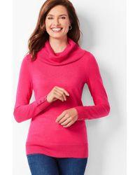 Talbots - Merino Button-cuff Cowlneck Sweater - Lyst