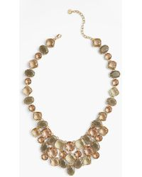 Talbots - Neutral Crystals Necklace - Lyst