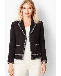Talbots - Tweed Trim Jacket - Lyst