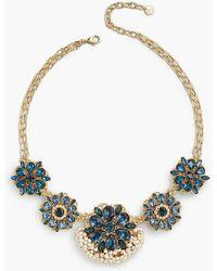 Talbots - Flower Statement Necklace - Lyst
