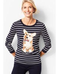 Talbots - Stripe Corgi Sweater - Lyst