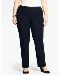 Talbots - Womans Refined Bi Stretch Tailored Slim-leg Pant - Lyst