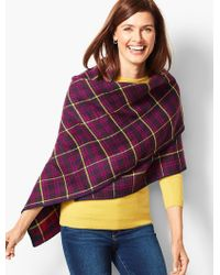 Talbots - Double-face Triangle Wrap - Lyst