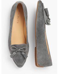 Talbots Francesca Tassel Tie Driving Moccasins - Gray