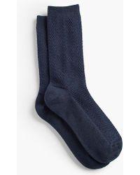 Talbots - Chevron Trouser Socks - Lyst
