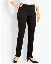 Talbots - Bi-stretch High-waist Straight-leg Pant-curvy Fit - Lyst