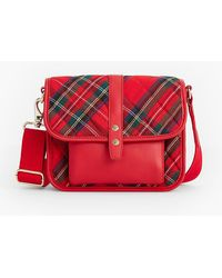 Talbots - Quilted Nylon Red Plaid Crossbody Bag - Lyst