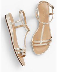 Talbots - Capri Mini-wedge Sandal - Metallic - Lyst