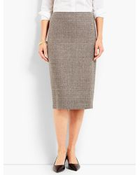 Talbots - Luxe Tweed Pencil Skirt - Lyst