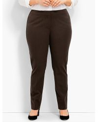 Talbots - Plus Size Exclusive Refined Bi-stretch Tailored Straight-leg - Curvy Fit - Lyst
